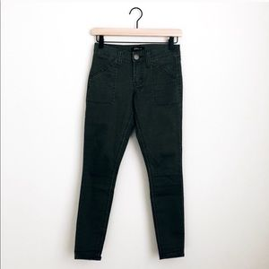 STS BLUE • green skinny utility pants
